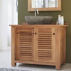 colonne salle de bain bois inspirations avec meuble salle With meuble bas bois salle de bain