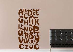 black alphabet childrens wall stickers adhesive wall sticker With black letter wall decals