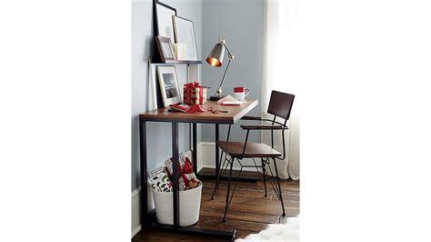 pilsen graphite desk with walnut top in desks crate and