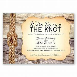 tying the knot engagement party invitation invitations With wedding invitation wording samples the knot