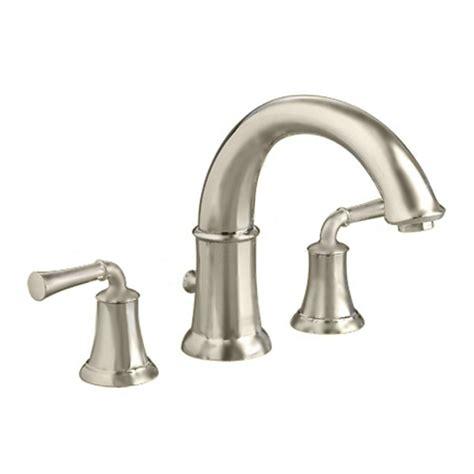 deck mount tub faucet moen banbury 2 handle deck mount high arc tub faucet