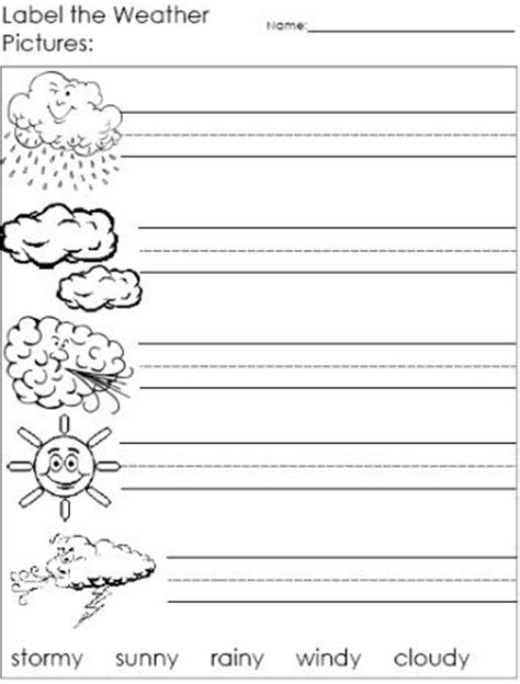 Label The Weather Words Worksheets  Kids Printables  Pinterest  The O'jays, Words And Weather