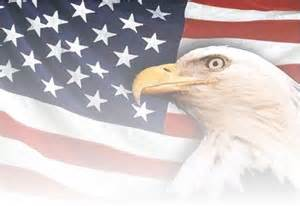 Faded American Flag with Eagle