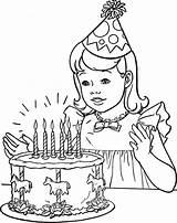 Coloring Birthday Popular sketch template