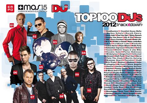 Best Dj Magazine Top 100 Djs 2012 By Dj Mag Be Tronic