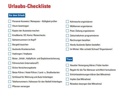 urlaubs checkliste kostenlos urlaub checkliste chip
