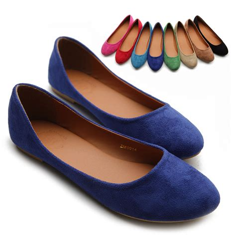 colored flats ollio womens ballet flats loafers comforts light faux