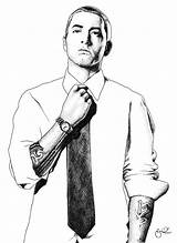 Eminem Drawing Coloring Pages Drawings Face Famous Slim Deviantart Rapper Shady Rap Hip Hop Drawn Draw Printable Thug Young Artist sketch template