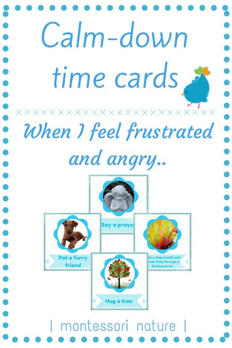 printables calm down cards anger montessori strategies frustration preschool managing management manage activities classroom peace printable children frustrated nature education