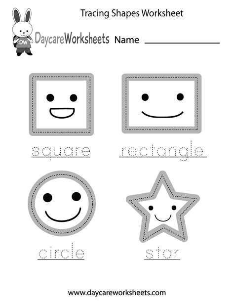 preschool tracing shapes worksheet