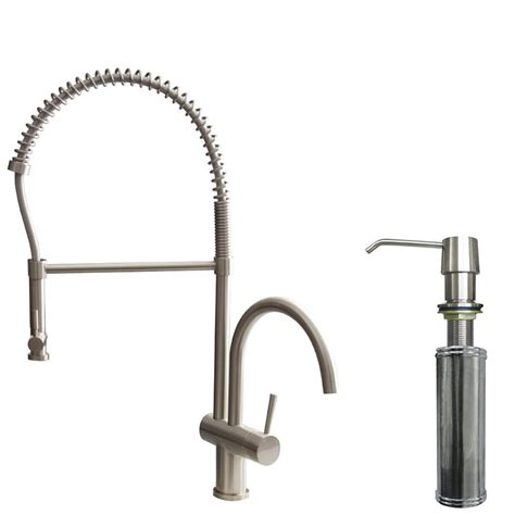 single kitchen faucet with sprayer vigo single handle pull sprayer kitchen faucet with