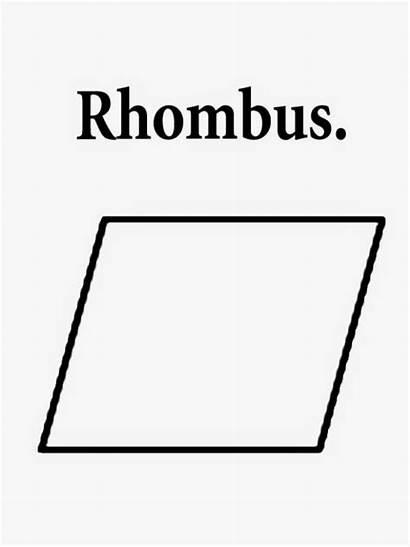 Printable Rhombus Coloring Geometry Parallelogram Clipart Shape