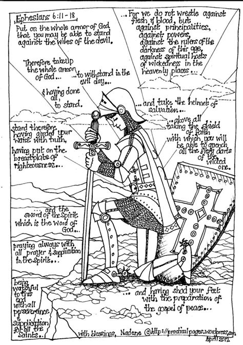 armor  god coloring pages coloring home