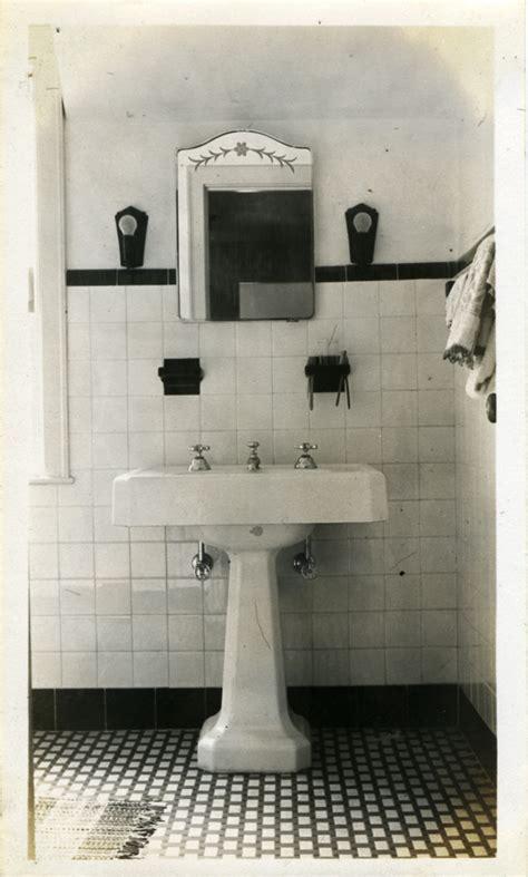 sinking in the bathtub 1930 bathroom on 1930s bathroom hex tile and tile