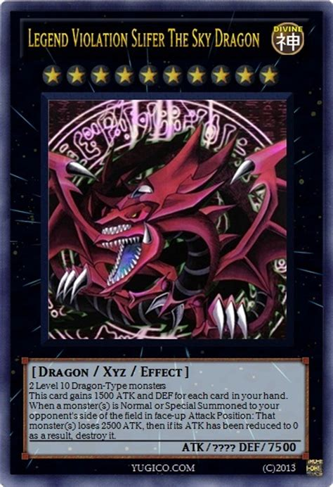 legend violation slifer the sky dragon projects ygopro