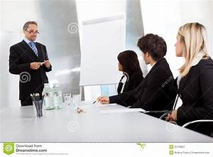 Group Of Business People At Presentation Royalty Free ...