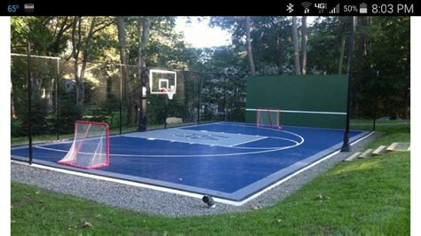 Sports Nets For Backyard by Multi Sport Court Half Court Bball Hockey Nets Tennis