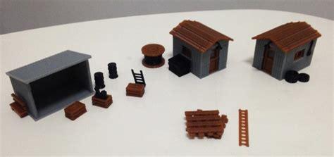 model train table kit 1 87 model train ho scale streetscape cabin miniatures diy