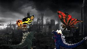 Godzilla and Mothra vs SpaceGodzilla and Battra. by ...