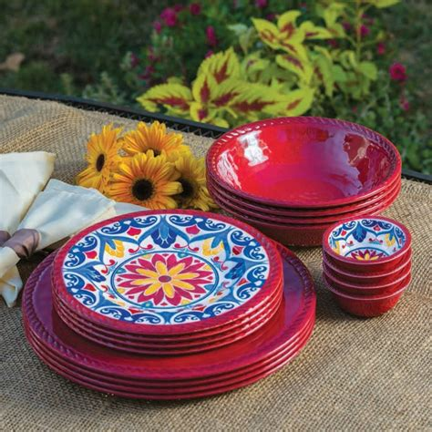 melamine dinnerware plates sets dishes piece outdoor plastic unbreakable club plate tableware sam yellow shipping colors serving indoor assorted garden