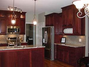 kitchen wall color ideas with cherry cabinets deductourcom With best brand of paint for kitchen cabinets with wall art with lights