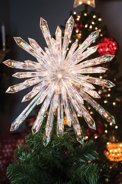 clear crystal christmas tree topper  clear
