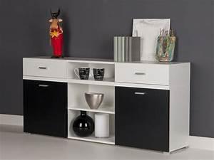 Sideboard Weiß Schwarz : sideboard anrichte kommode wei schwarz breite 150 cm ebay ~ Orissabook.com Haus und Dekorationen