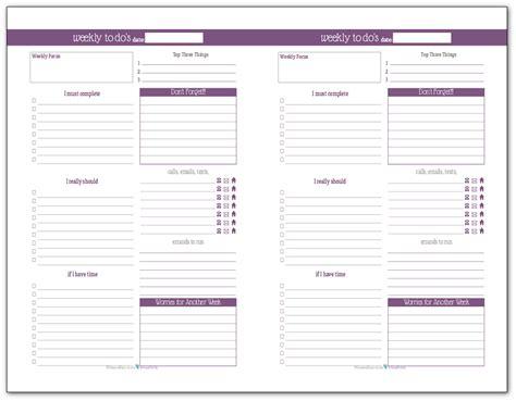 plan  week    weekly   list planner printables scattered squirrel
