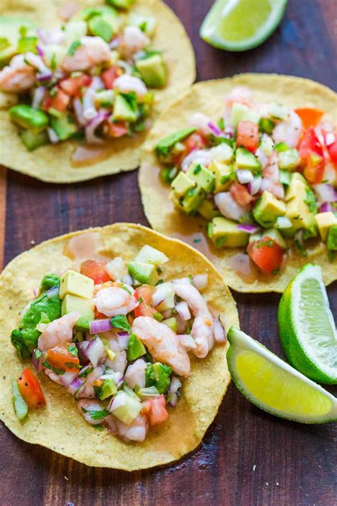 shrimp ceviche tomatoes avocados loaded cucumbers
