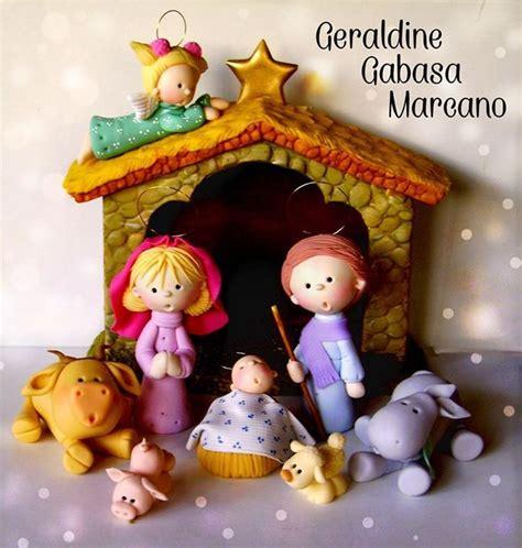 pesebre navidad porcelana fria hecho por geraldine gabasa marcano porcelana navidad
