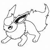Flareon Lineart Pokemon Coloring Sketch Template Deviantart Imgarcade Credit Larger sketch template