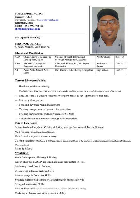 sle chef resume chef resume the best resume sle of