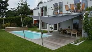 uber 1000 ideen zu sonnenschutz fur terrasse auf With französischer balkon mit ovaler pool garten