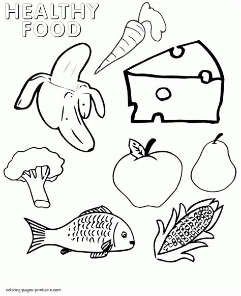 food coloring pages  children coloring pages