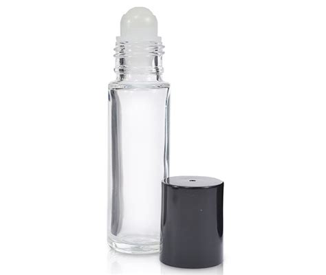 5/10ml portable amber glass roller rollerball essential oil bottles mist container travel refillable bottle transparent brown. 10ml Clear Glass Roller Bottle & Cap - Ideon Packaging ...