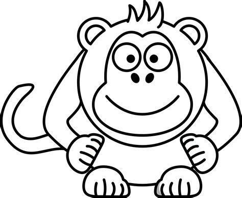 Cartoon Monkey Drawings