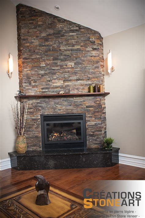 fireplace   terracotta ledgestone  realstone
