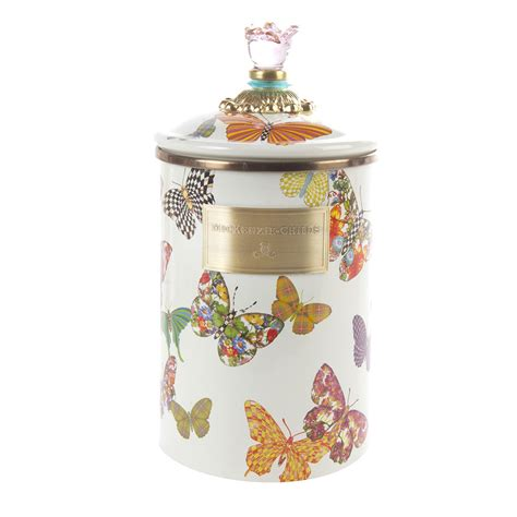 where to buy kitchen canisters buy mackenzie childs butterfly garden enamel canister