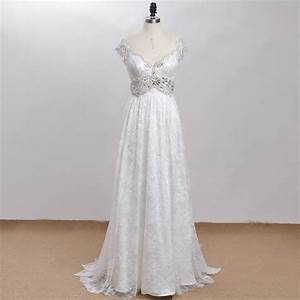Exquisite bohemian vintage victorian beaded wedding gown for Plus size victorian wedding dresses