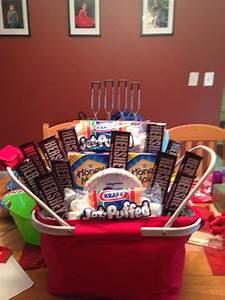 Raffle Box Ideas Campfire Basket Raffle Baskets Diy Gift Baskets
