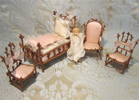 set chambre miniature pine twig chambre de nuit furniture set for doll