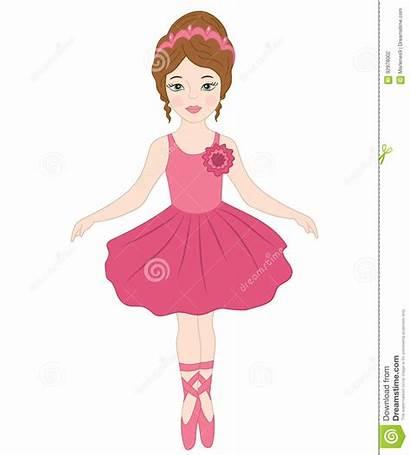 Ballerina Clipart Dancing Vector Cartoon Dancer Pink