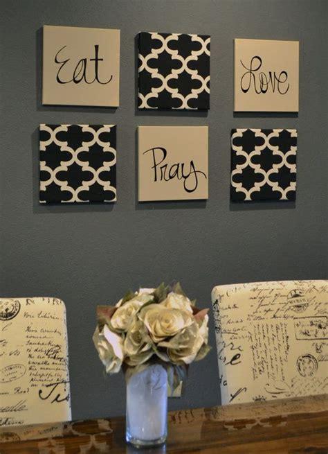 eat pray love dining room wall art set black beige