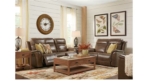 barcaccia brown leather  pc living room