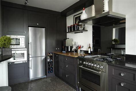 deco cuisine gris et noir cuisine noir et gris