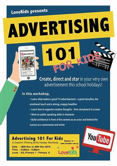 Advertising Workshop Holiday Lovekids Creative Skills Workshops