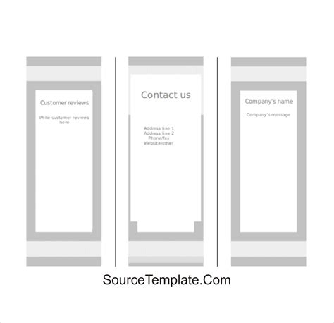 Tri Fold Take Out Menu Template Google Docs Deli by Tri Fold Brochure Template Google Docs Free Download