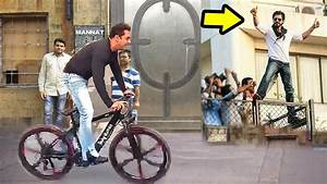 Salman Khan Cycling In Front Of Shahrukh Khan's House ...
