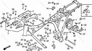 Honda Motorcycle 1984 Oem Parts Diagram For Frame