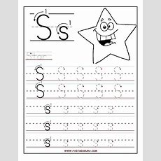 Printable Letter S Tracing Worksheets For Preschool  For The Kidlets  Preschool Worksheets